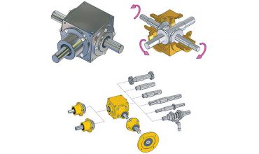 Unimec drive bevel system deflector gearboxes