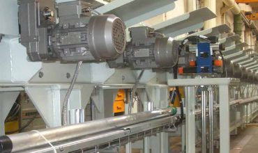WATT DRIVE motor gear units in the steel industry